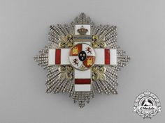 A Rare Spanish Order of Military Merit, 3rd Class Breast Star with White Distinction and Pensioned  Circa 1910