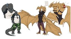 All Godzilla Monsters, Godzilla Comics, Aliens, Funny Animal Comics, Bunny Drawing, Alien Vs Predator, Fantasy Creatures, Cute Drawings, Monsters