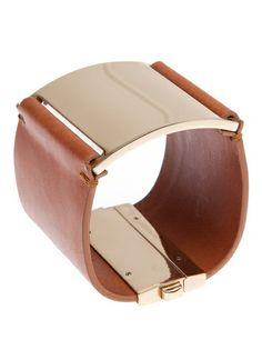 MAISON MARTIN MARGIELA Leather and Brass Bracelet.