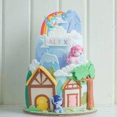 This My Little Pony cake pretty much speaks for itself! (Still... sooo cuuuute hehe) #mylittlepony #cake #cottontailcakestories #rainbow #castle #cakesofinstagram