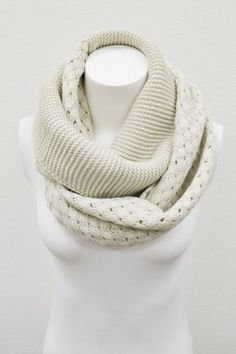 Ivory Cable Knit Basket Weave Infinity Scarf, Infinity Scarfs, Handknit Cable Knit Infinity Scarves Loop Scarves, Knit Scarf