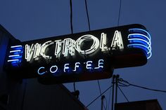 Victrola Coffee ~ Art Deco Neon Sign