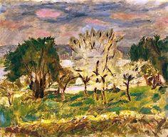 Paysage A Vernon - Pierre Bonnard