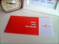 wedding invitaiton: invitation inside sleeve