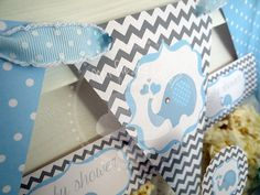 "Mi fiesta ideal: Kit: Baby shower niño ""elefante"""