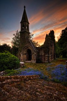 Sunset, Overton, North Wales, England - I imagine sunsets are as rare in Wales as they are in Eugene, Oregon