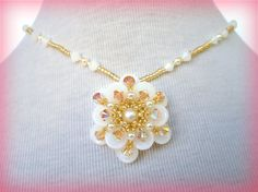 Hey, I found this really awesome Etsy listing at https://www.etsy.com/uk/listing/196263913/white-flower-pendant-beading-tutorial