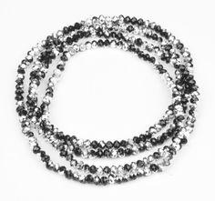 Super seje Lang elastisk halskæde med facetslebne krystal perler bitavant Modetøj til Damer i fantastisk kvalitet