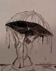 Bathing in the Rain~Acrylic~by Jaycien Bagwell 2013