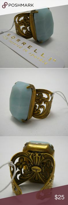 """🆕 Designer SORRELLI """"Fixation"""" Ring With an antique look, it favors soapstone with carved gold. Sorrelli Jewelry Rings"""