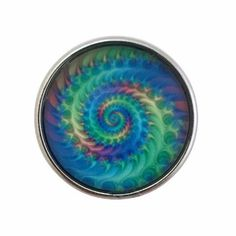 Multi Colored Swirl Snap Charm 20mm For Snap Jewelry