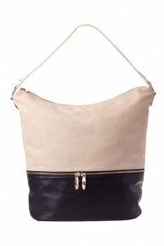 ad3868382d24 Colette by Colette Hayman - Metal Tab Zip Base Bucket Bag (Black Ivory)