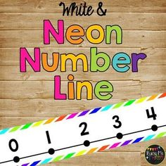 Are you looking for a way to display a number line that is cute but also easy to read? This is perfect for your classroom and has a BRIGHT NEON & WHITE THEME! It matches my other Neon and White items! Neon Classroom Decor, Future Classroom, Classroom Organization, Meet The Teacher, Your Teacher, Neon Number, Clock Labels, Teacher Table