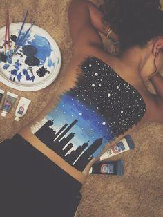 Starry city night