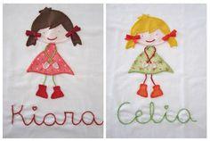mis nancys, mis peques y yo, aplique camisetas muñequita linda kiara y celia