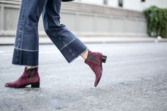 Spotted: Cropped Denim   Boots