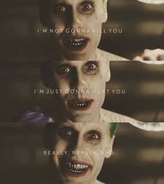 Jared Leto as the Joker in Suicide Squad. I'm stoked to see this.
