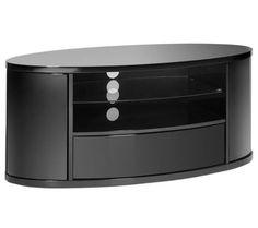 Techlink Ellipse High Gloss Black Oval TV Stand EL3