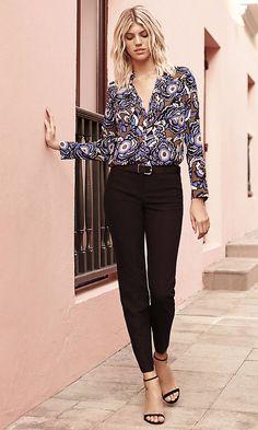 Original Fit Graphic Floral Portofino Shirt   Express