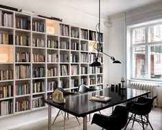Naja Munthe's apt. How to deal with the endless book collection.