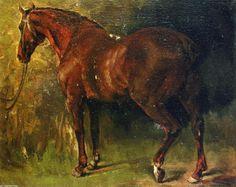 Le cheval anglais de M. Duval, huile sur toile de Gustave Courbet (1819-1877, France)