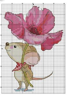 Sweet mouse cross stitch pattern