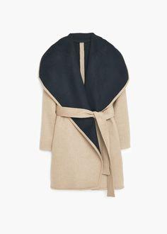 Manteau cascade en laine