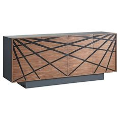 Modrest Spectra Contemporary Walnut & Grey Buffet | from hayneedle.com