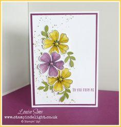 Blendabilities meet Flower Shop | Stampin' Delight, Louise Sims, UK Demo. Flower Shop Stamp Set, Gorgeous Grunge Stamp Set, Blendabilities, Any Many More Stamp set, Bird Punch