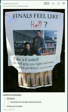 Someone at my school did this when I was a freshman, I've still got the Castiel in my wallet