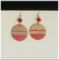 Check out this item in my Etsy shop https://www.etsy.com/listing/212207195/wood-dangle-earrings-red