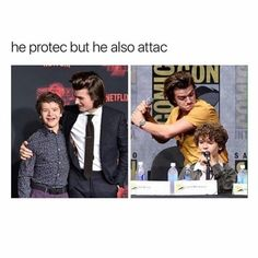 Stranger things memes - 123 (he protec but he also attac) - wattpad. Stranger Things Quote, Stranger Things Actors, Stranger Things Have Happened, Stranger Things Steve, Stranger Things Aesthetic, Stranger Things Netflix, Stupid Memes, Funny Memes, Hilarious