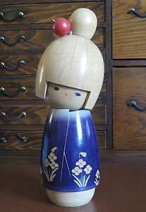 Vintage Kokeshi doll by Suigai Sato 1980s