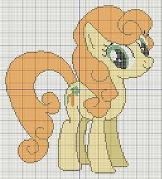 Buzy Bobbins: Golden Harvest/ Carrot Top My little pony cross stitch design