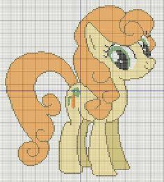 Buzy Bobbins: Golden Harvest/ Carrot Top My little pony cross stitch design