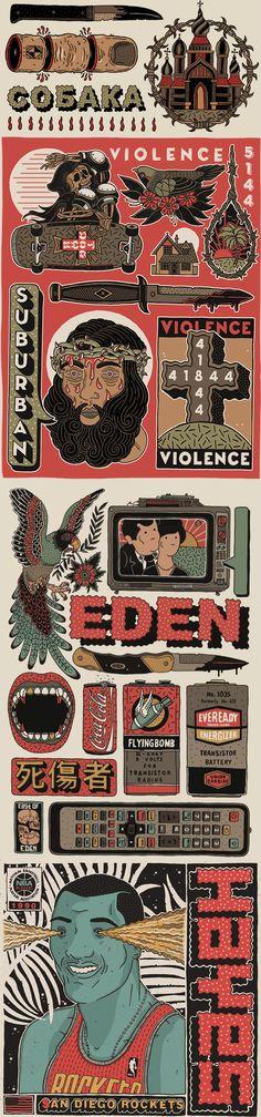 East of Eden © Floriam Schommer I Ilustración I Cóctel Demente