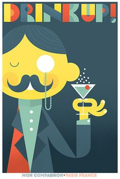 Drink Up! print by Skinny Ships