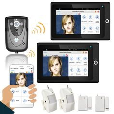 Video Intercom Türsprechstelle Yobang Sicherheit Video Tür Intercom 7inch Monitor Verdrahtete Video Tür Telefon Visuelle Türklingel Speakephone Intercom Ir Kamera System