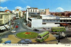 South street Worthing, view from the Pier in the 1960s Britain, Great Britain, View Master, Worthing, Local History, Old Photos, Brighton, England, Mansions