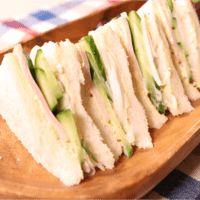 あっという間に懐かしの味!ハムと野菜のサンドイッチ