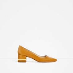 ZARA - COLLECTION SS/17 - BLOCK HEEL SHOES WITH METAL DETAIL