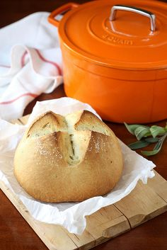 Dutch Oven Rustic Herb Bread by Completely Delicious, via Flickr
