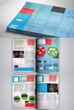 Criado por Stephano Pierini em Design Gráfico. #Design #Editorial #blue