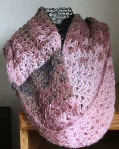 Acrylic/mohair/wool yarn infiniti scarf available in 2 colors $29.99