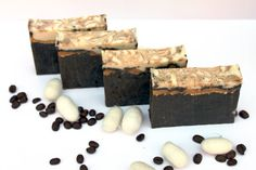 Goat's milk coffee soap with silk  Great by WarmingHeartsShop, $5.00