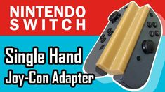 Genius idea designed for Nintendo Switch handicap users, The adapter allows you to use both Joy-con controllers in one hand developed by Vexelius Gaming Rules, Nintendo Switch, Inventions, Hands, Engineer, 3d Printer, Card Games, Cnc, Universe