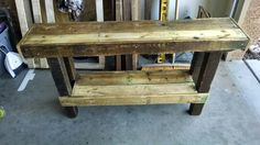 Pallet hallway table 1 try