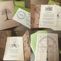 my fiance made these awesome Lord of the Rings Invitations #LOTR #weddinginvitations