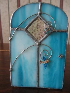 Stained glass Fairy door