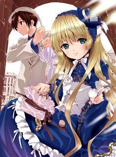 gosick victorique e kujo kiss All Anime, Manga Anime, Anime Art, Anime Girls, Gosick Victorique, Koi, Chibi, Blonde Anime Girl, Minions Cartoon